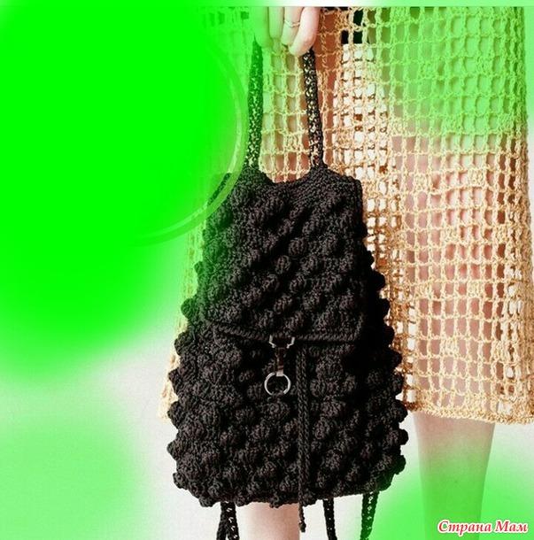Рюкзак крючком, онлайн