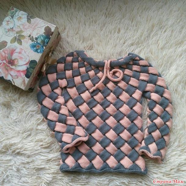 Мастер класс по вязанию детского пуловера техникой Энтрелак на вязальной машине 5 класса