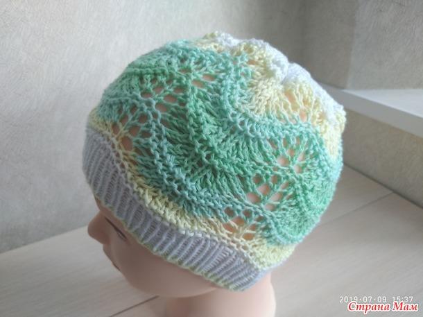 """Летняя детская шапка """"Sunny day''"""