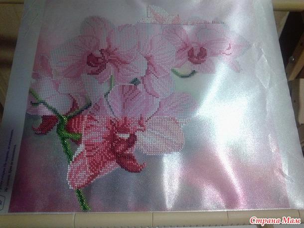 Орхидеи в бисере... вышивка.