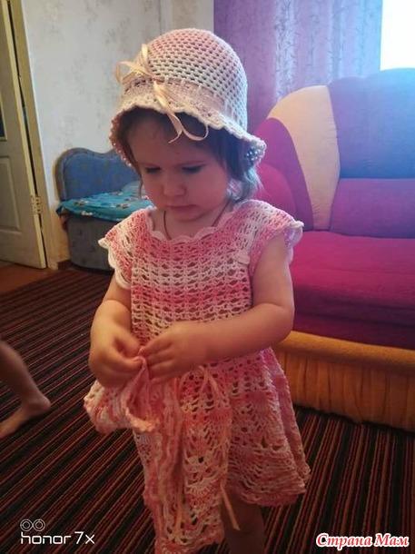 Платье крючком для племяшки