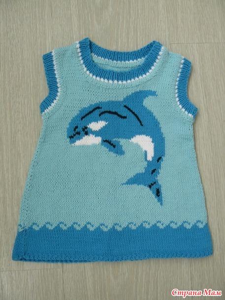 Платье с дельфином