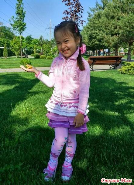 МК вязания юбки с рюшами