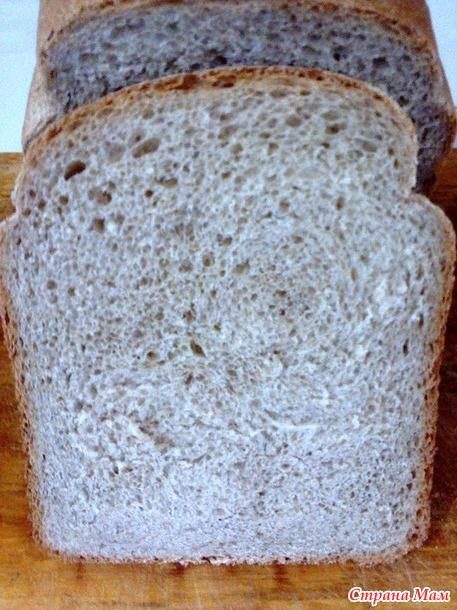 Хлеб пшенично-ржаной с отрубями в хлебопечке