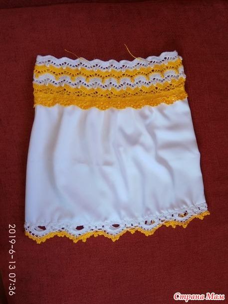 Летний топ для девочки (комбинированное вязание)