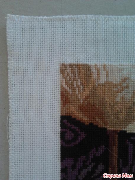 Натягивание вышивки