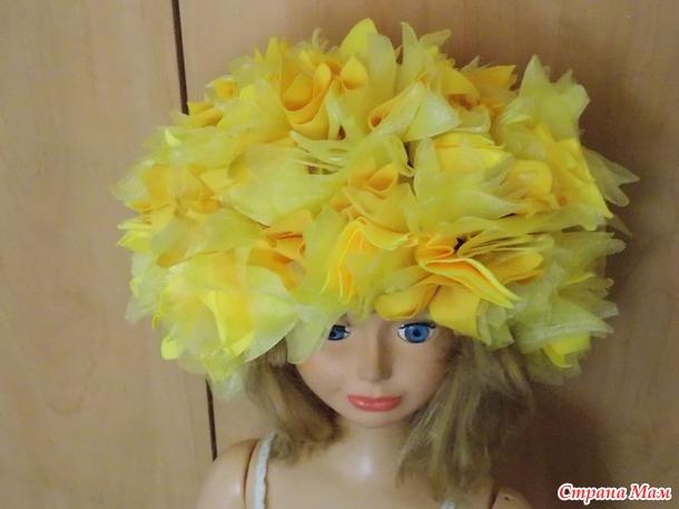 Шапочка-цветок