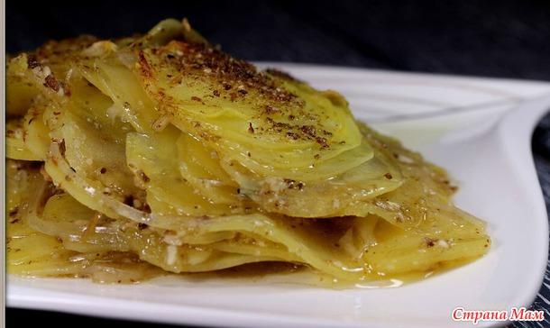 Картофельная запеканка с грибным ароматом. Постное блюдо