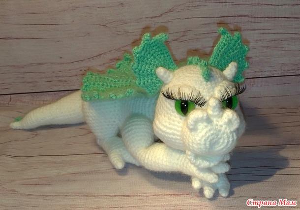 """. Девушка-дракон """"аквамарина"""""""
