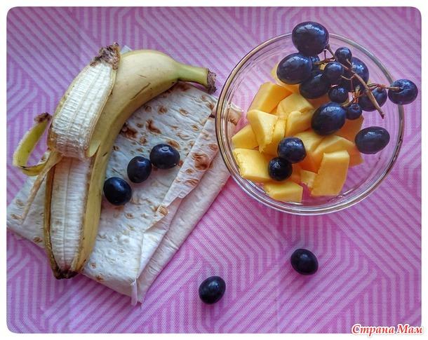 Рулетик манго и банан