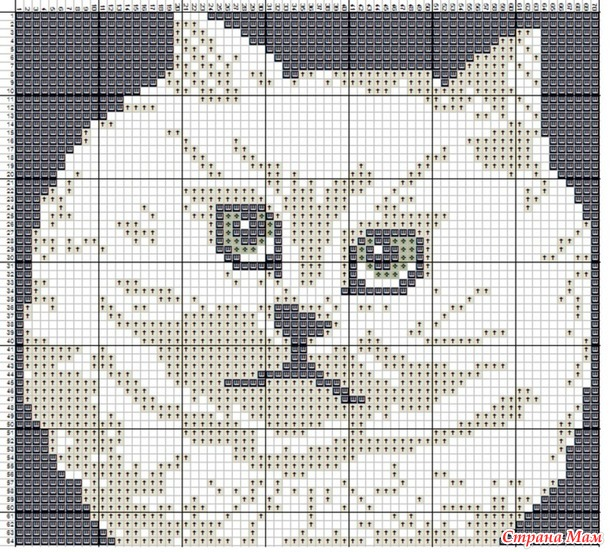 Схемы котиков для жаккарда крючком
