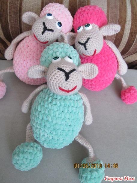 Мои зефирные овечки.