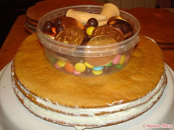 Торт пиньята.
