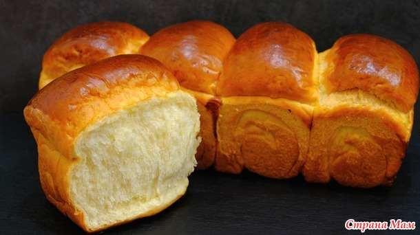 Японский хлеб Хоккайдо на хлебной ЗАВАРКЕ долго не черствеет и не крошится