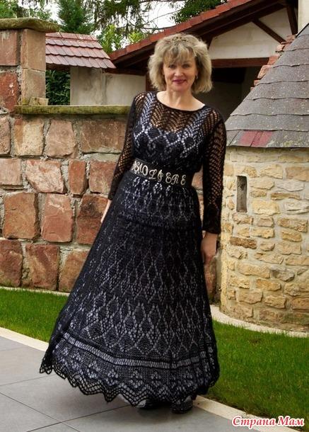 Не маленькое Чёрное платье +накидка( не ленивый шетланд).