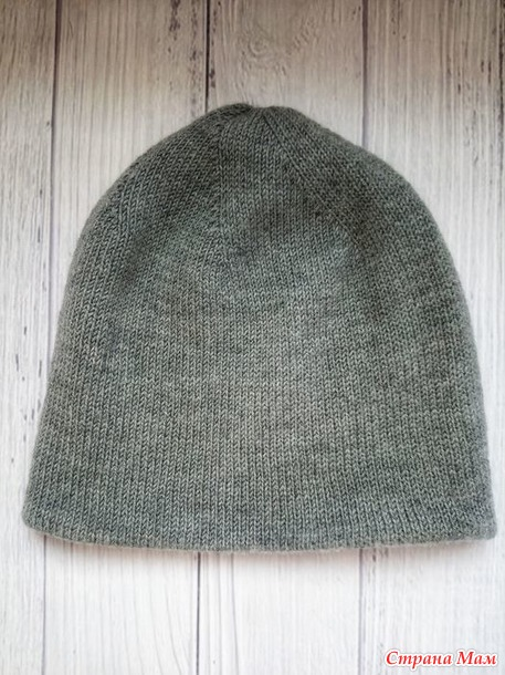 Мужская двухсторонняя шапка