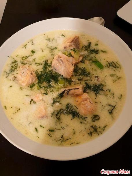 Рецепт: Финская уха (Kalakeitto)