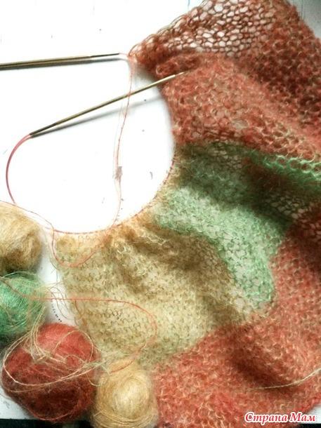 Палантин или шарф из мохера