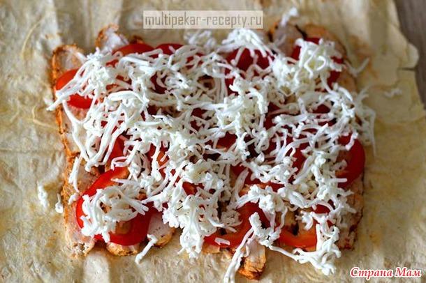 Тортилья в мультипекаре Redmond с курицей и сыром