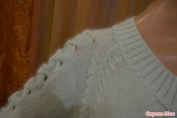 Пуловер из пуха норки.