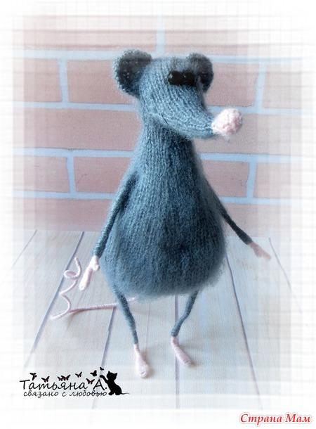 Мастер-класс Крысуля (спицы)