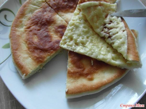Лепешки с сыром.