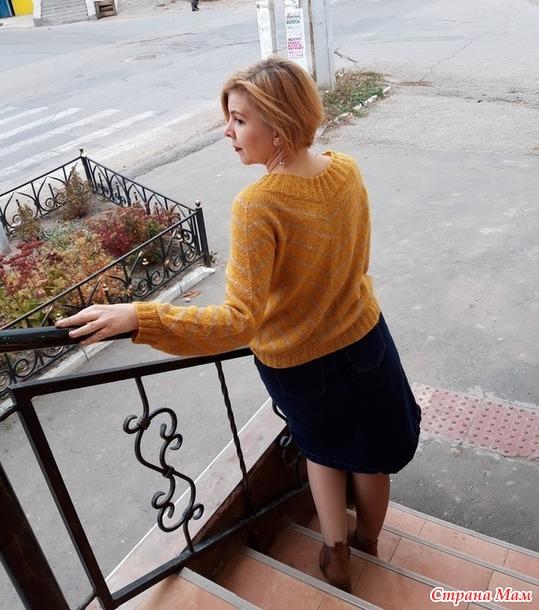 """Пуловер, по следам """"Чайки"""", или как я изобретала велосипед"""