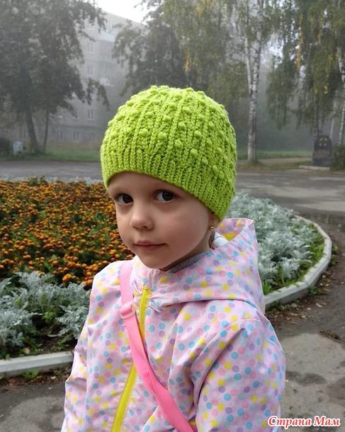 """Шапочка крючком """"Hops"""" от Ольги Войтовой."""