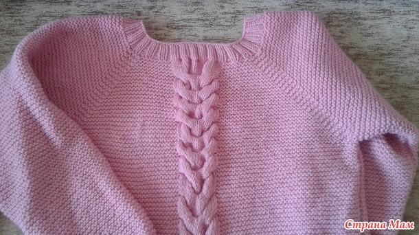 Пуловер спицами для себя любимой.