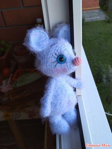 Голубая мышка