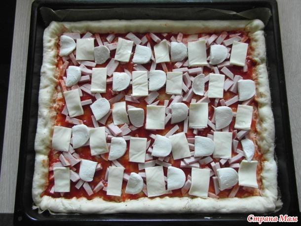 """Пицца """"Три сыра""""."""