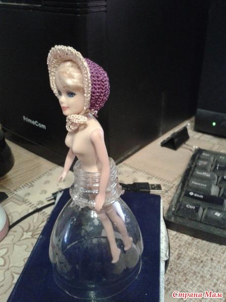 Кукла-конфетница в таком виде была подарена внучке
