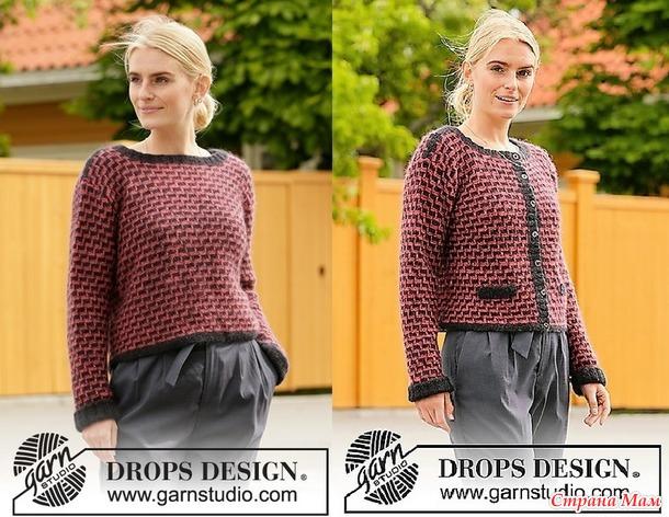 Джемпер и жакет City Chic от Drops Design