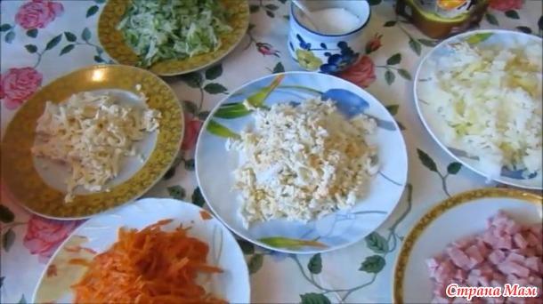 Салат с ветчиной и морковью по-корейски