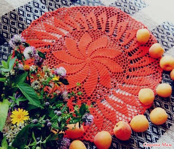 Игра Радуга. Оранжевая салфетка в июле.
