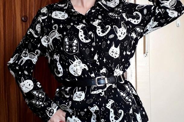 Распаковка посылки с AliExpress   Женская рубашка с ярким принтом.