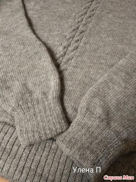 Пара свитеров с бесшовным регланом. Добавила принцип реглана.