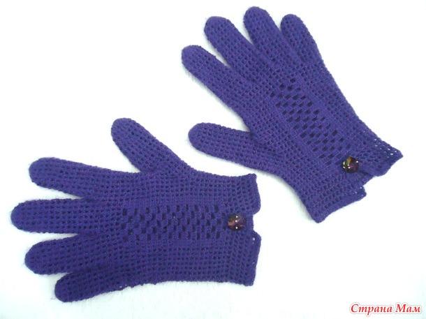 Мои первые перчатки крючком.