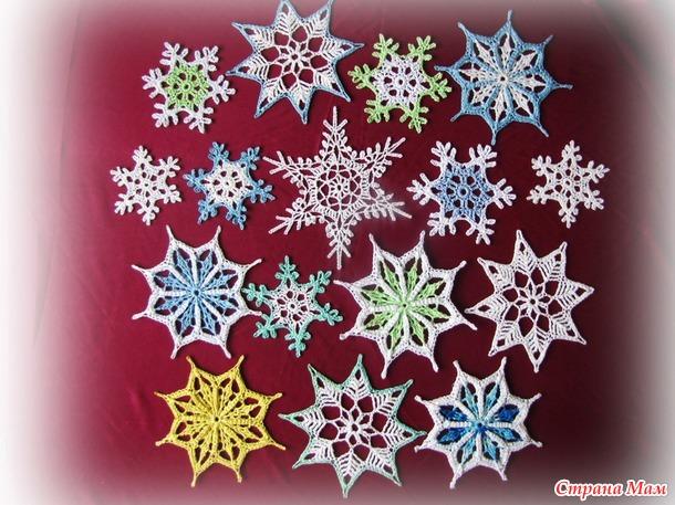 Снежинки к Новому году.