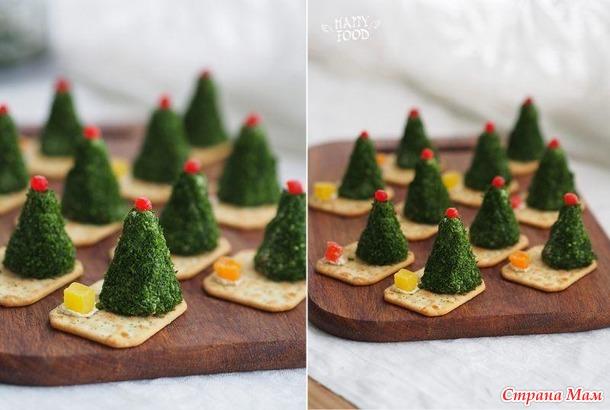Оформление блюд к новогоднему столу