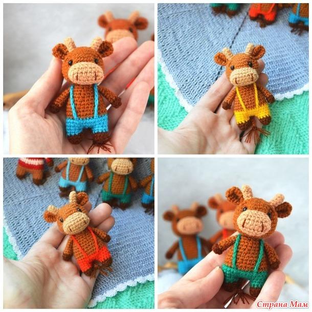 Подготовка к новому году. Вязаные лама, снеговички и бычки/коровки в моём исполнении