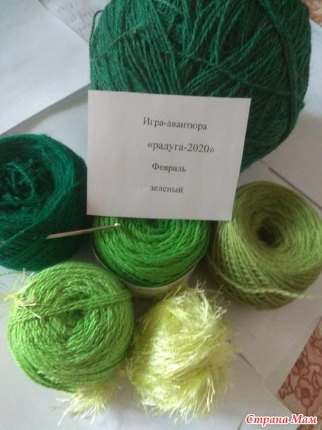 Радуга-2020 Февраль  Отчет Зеленая подушка