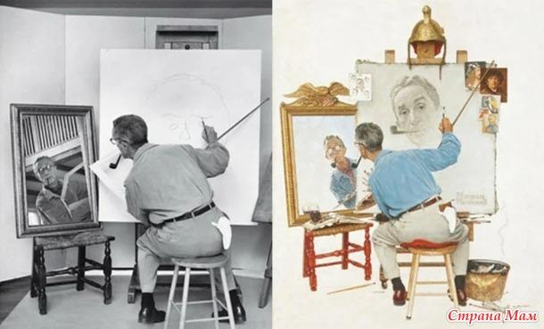 Интересная и длинная история о художнике, который нашел свое призвание.