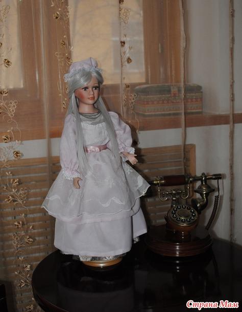 Фарфоровая кукла, продолжаю готовиться к выставке