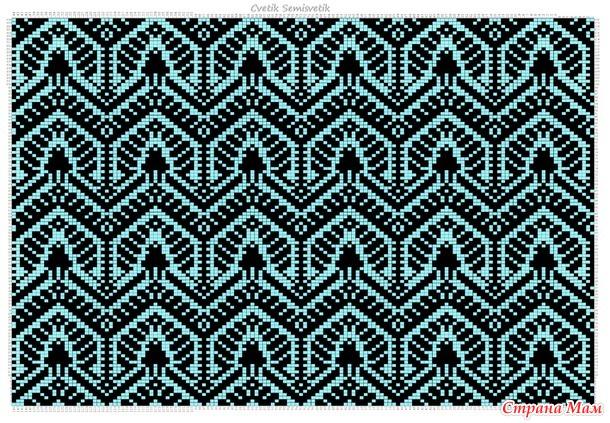 Восточные сказки. Жаккард для вязания. Схемы, перфокарты, файлы ДК-8