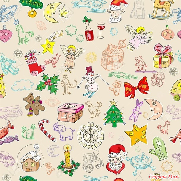 Новогодние бирки на подарки и фоны для новогоднего декора