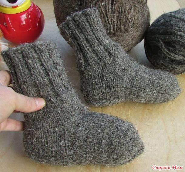 Носки детские вязаные спицами. Россия