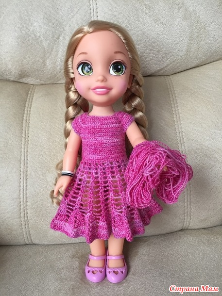 Новые наряды для куклы Рапунцель.