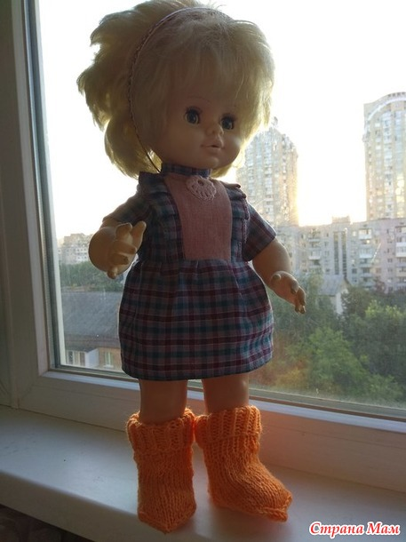 Оранжевая радуга июля. носочки для малыша.
