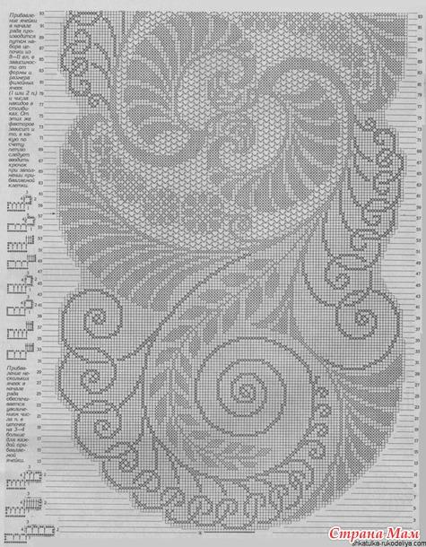 Большая витиеватая салфетка или коврик